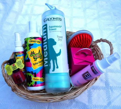 PET PAMPER HAMPER - GIRLS NIGHT IN DOG CHRISTMAS BIRTHDAY GROOMING GIFT HAMPER